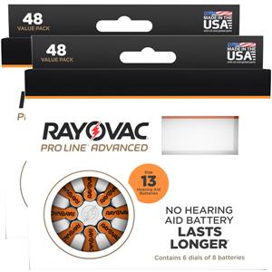 Rayovac Proline Size 13 Hearing Aid Batteries - 96 cell pack. LARGE