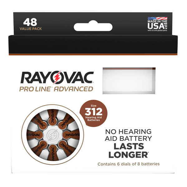 Rayovac Proline Size 312 - 48 Cells Mercury Free LARGE