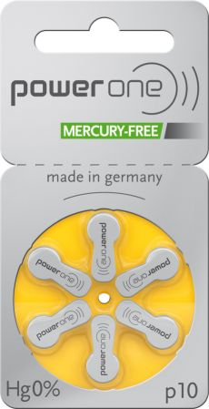 Power One Size 10 Mercury Free - Hearing Aid Batteries