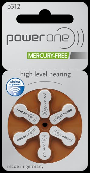 Power One Size 312  - Hearing Aid Batteries