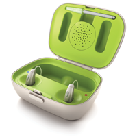 Photo of charging case for Phonak Bolero B-PR hearing aids THUMBNAIL
