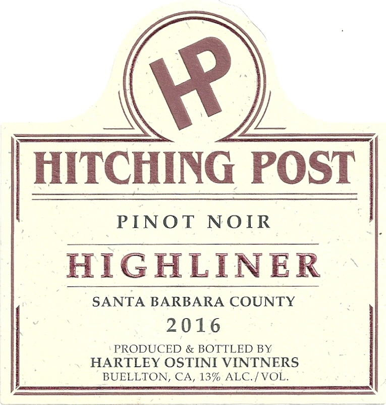"2016 Pinot Noir ""Highliner"""