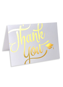 Thank-You Cards — Gold Foil