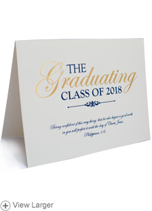 2018 Graduation Announcement—Philippians 1:6 LARGE