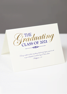 Class of 2021 Graduation Announcement—Philippians 1:6 LARGE