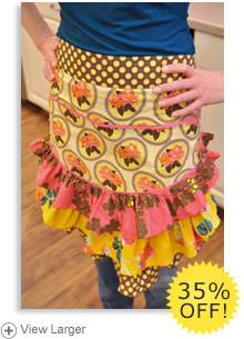 Apron: Yellow Ruffled Lunch