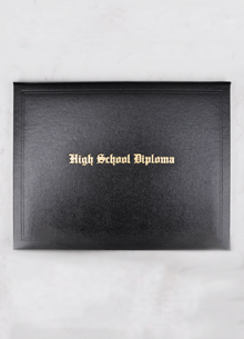 Blank High School Diploma & Case_LARGE