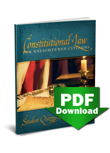 Constitutional Law for Enlightened Citizens (2nd Edition) — Student Quizzes & Answer Key