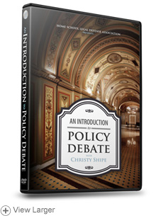 An Introduction to Policy Debate with Christy Shipe, 3-DVD set