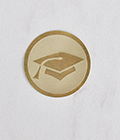 Gold Foil Envelope Seals (Qty. 25 Seals)