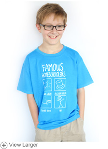 Famous Homeschoolers Kids' T-shirt: Boys