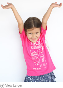 Famous Homeschoolers Kids' T-shirt: Girls
