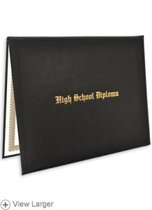 High School Diploma & Case