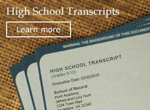 High School Transcripts!