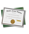 Middle School Diploma & Case — Blank Certificate