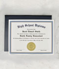 High School Diploma & Case with Personalized Certificate