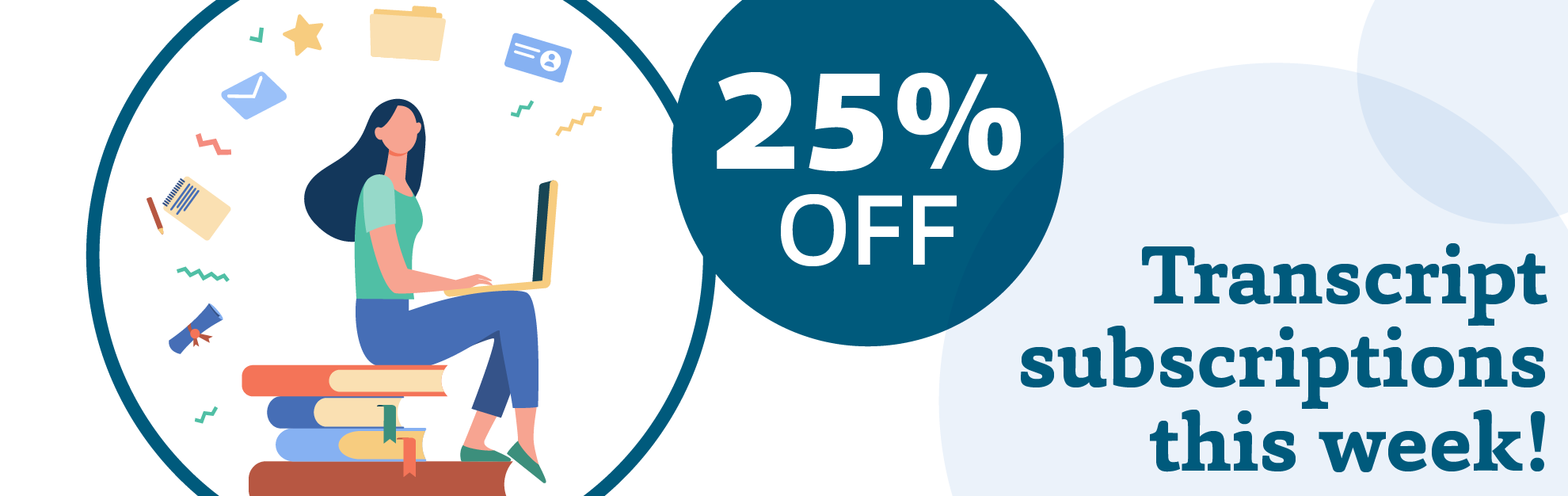 25% off High School Transript Service