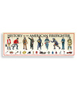 "History America Print — American Firefighter (36"" x 11-3/4"")"