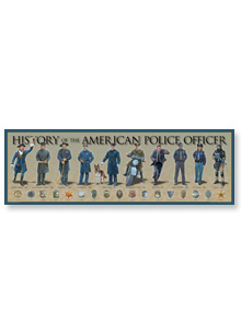 "History America Print — American Police Officer (36"" x 11-3/4"")"