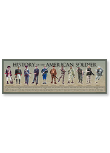 "History America Print — American Soldier (36"" x 11-3/4"")"