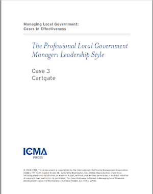 Managing Local Government: Cases in Effectiveness: Case 3: Cartgate LARGE