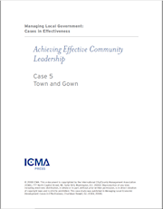 Managing Local Government: Cases in Effectiveness: Case 5: Town and Gown THUMBNAIL