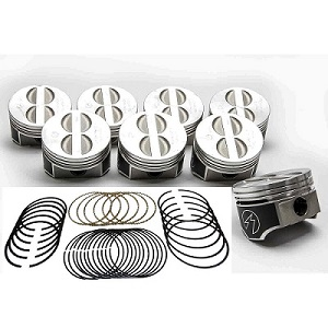 Chevy 350 Forged Pistons and Rings (L2256FKIT)