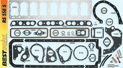 Pontiac 268 1950-1954 Full Gasket Set (RS558C)