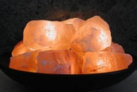Aloha Bay Himalayan Fire Bowl with 10 Crystal Salt Stones