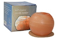 Nature Artifact Himalayan Salt Feng Shui Candleholder + Cork Coaster