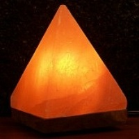 Aloha Bay Himalayan Salt Crystal Pyramid Lamp