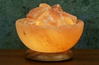 Aloha Bay Himalayan Salt Bowl Lamp with Salt Stones