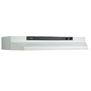 Broan® Convertible Under-Cabinet Range Hood  (multiple sizes available), 220 CFM, White LARGE