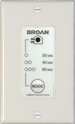 Venmar-Broan 20-40-60-Minute Push Button Optional Wall Control