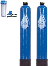 CuZn Chlorine Whole House 150,000 gallon Dual Tank Water Filter Image LARGE