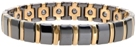 Ceramic Magnetic Power Bracelet. Hematite Magnets + Negative Ion Black/Gold Color Image