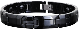 Ceramic Magnetic Energy Health Power Bracelet. Hematite Magnets + Negative Ion Black Color Image