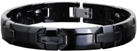 Ceramic Magnetic Energy Health Power Bracelet. Hematite Magnets + Negative Ion Black Color Image THUMBNAIL