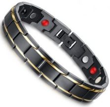 Titanium Stainless Steel, Ion FIR Energy, Magnetic Power Bracelet Image_LARGE