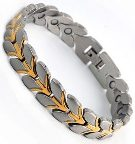Titanium Stainless Steel, Ion FIR Energy, Magnetic Power Bracelet Image THUMBNAIL