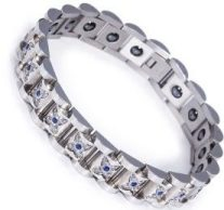 Stainless Steel, Negative Ion, Hematite Magnets, Germanium, Magnetic Power Bracelet Image