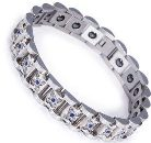 Stainless Steel, Negative Ion, Hematite Magnets, Germanium, Magnetic Power Bracelet Image_THUMBNAIL