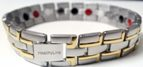 Stainless Steel Magnetic Power Bracelet. Magnets + Negative Ion + Far Infra Red + Germanium Silver/Gold Color Image
