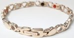 Stainless Steel Magnetic Power Bracelet. Magnets + Negative Ion + Far Infra Red + Germanium Rose Gold Color Image