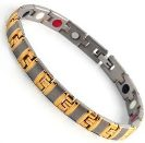 Titanium Stainless Steel, Ion FIR Energy, Magnetic Power Bracelet Image LARGE