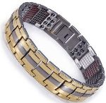 Titanium Stainless Steel, Ion FIR Energy, Germanium, Magnetic Power Bracelet Image