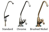Third faucets for use in under-counter water filters LARGE