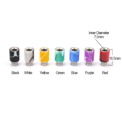 Shorty Jerrycan Acrylic & Stainless Steel Wide Bore 510 Drip Tip THUMBNAIL
