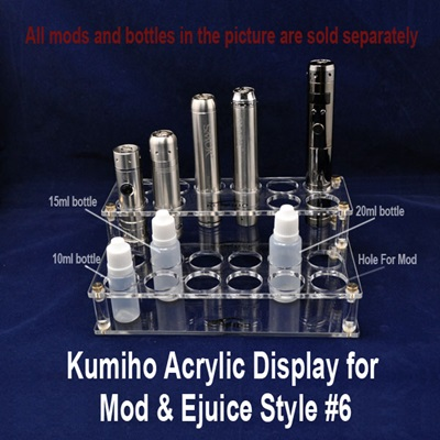 Kumiho Acrylic Display for Mod & Ejuice Style #6 THUMBNAIL