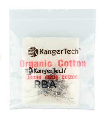 Kanger Pre-built RBA Coils and Cotton THUMBNAIL